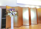 式典スタンド花